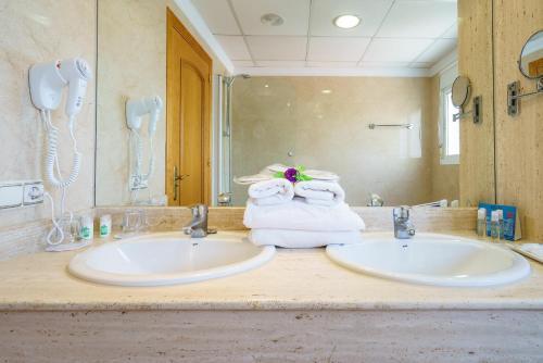Ett badrum på Hotel Isabel