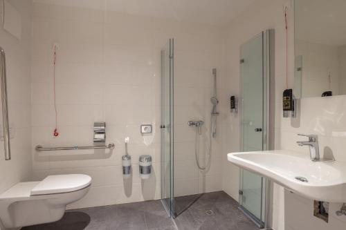 A bathroom at Duschel Apartments Wilmas