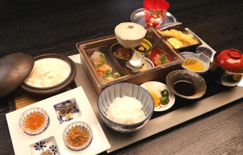 Breakfast options available to guests at Sun Members Kyoto Saga