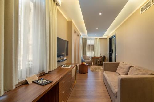 Area soggiorno di Continental Hotel Budapest