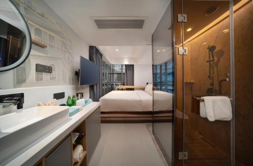 A bathroom at CityNote Hotel Beijing Road Pedestrian Guangzhou