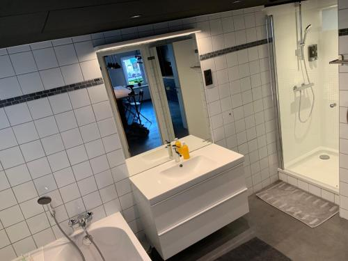 A bathroom at Froissart Loft