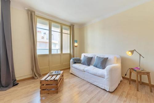 A seating area at Studio w balcony close to Marseille Old Port 50m from the beach - Welkeys