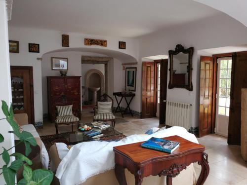 Zona de estar de Quinta do Rio Touro