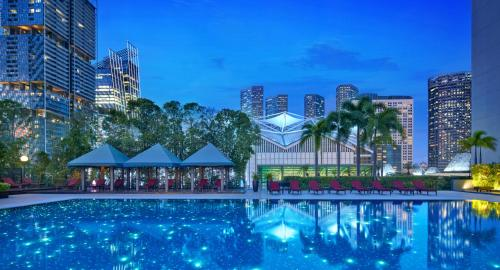 The swimming pool at or near PARKROYAL COLLECTION Marina Bay SGClean and Staycation Approved