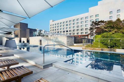 The swimming pool at or near Maison Glad Jeju