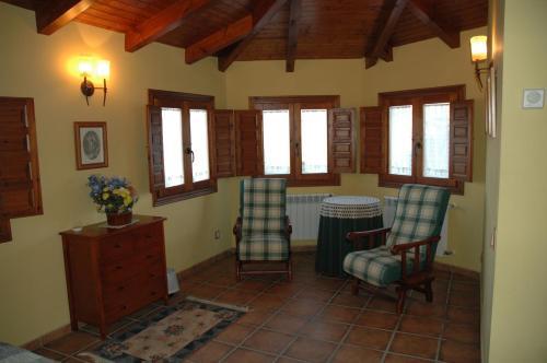 A seating area at Casa Rural El Colorao
