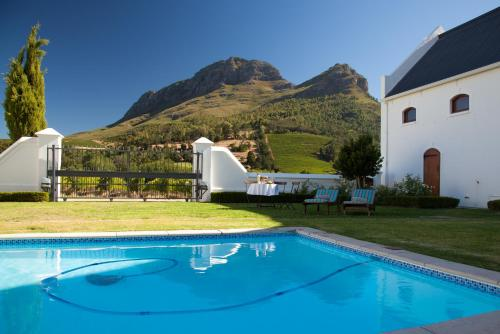 The swimming pool at or near Zorgvliet Wines Country Lodge