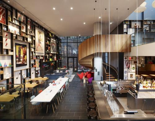 A restaurant or other place to eat at citizenM New York Bowery