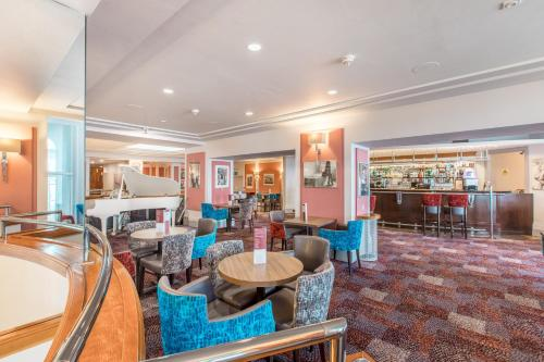 The lounge or bar area at The Empress Hotel