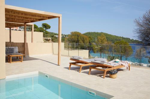 The swimming pool at or near ELIVI Skiathos
