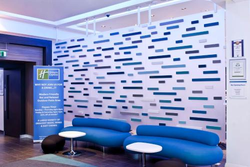 A seating area at Holiday Inn Express Manchester City Centre Arena, an IHG Hotel
