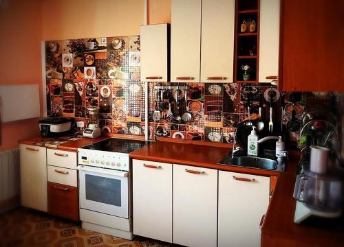 Кухня или мини-кухня в Мини-отель Уют