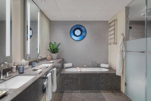 A bathroom at Six Senses Douro Valley