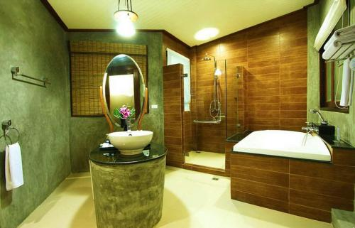 A bathroom at Aonang Phu Petra Resort, Krabi