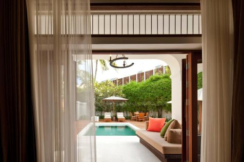 Výhled na bazén z ubytování SALA Samui Choengmon Beach Resort - SHA Plus nebo okolí