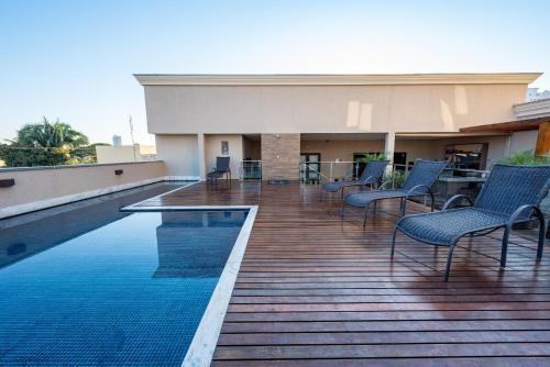 The swimming pool at or near Class Hotel Rio Claro