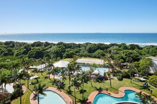 A view of the pool at Breakers or nearby