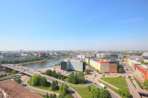 A bird's-eye view of Sky Hostel Helsinki
