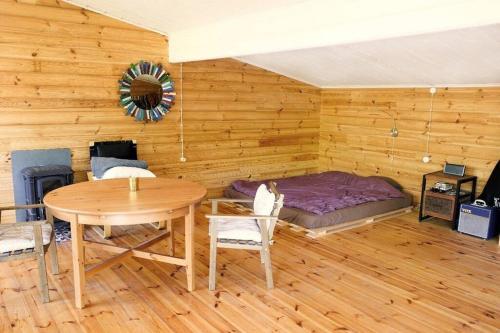 A seating area at Шале-студия в лесу. Полный комфорт.