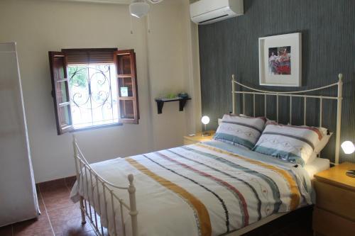 Cama o camas de una habitación en Casa La Nuez