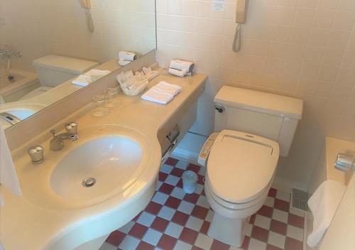 A bathroom at Hotel Nikko Tsukuba