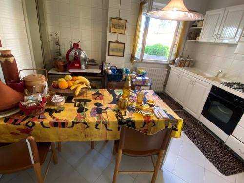 Zona pranzo nel bed & breakfast