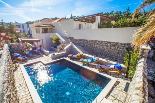 A view of the pool at Srebreno Villa Sleeps 8 Pool Air Con WiFi or nearby