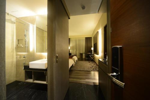 A bathroom at The Light Hotel Penang