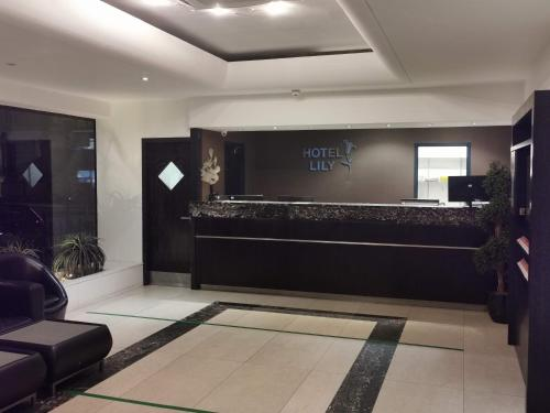 The lobby or reception area at Hotel Lily