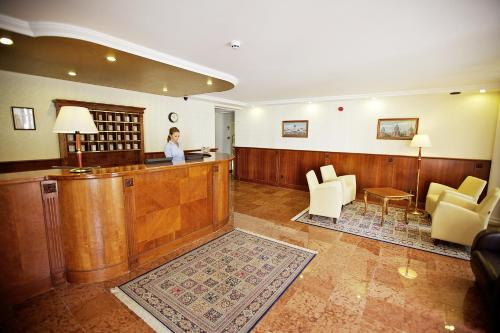 The lobby or reception area at Gold Hotel Budapest