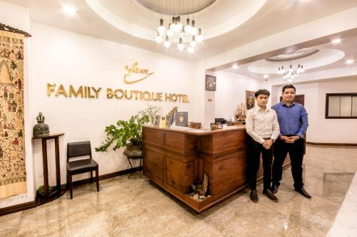 The lobby or reception area at Family Boutique Hotel