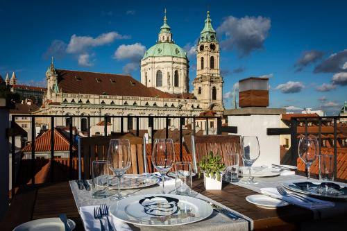 A restaurant or other place to eat at Aria Hotel Prague