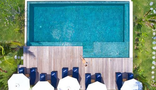 A view of the pool at Segara Lombok or nearby