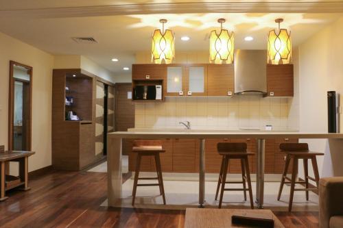 مطبخ أو مطبخ صغير في فندق جولدن توليب الدمام الكورنيش