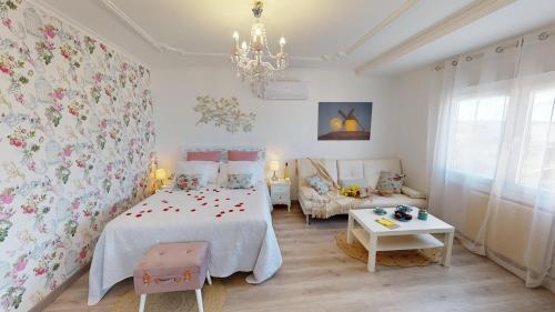 Cama o camas de una habitación en Apartamentos Oncemolinos