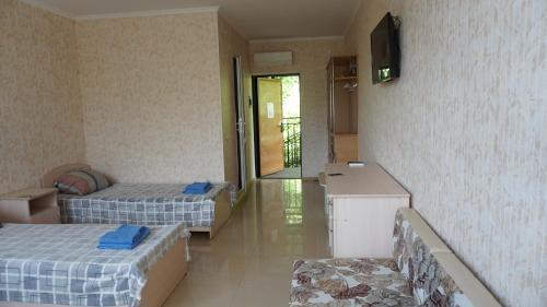Кровать или кровати в номере Гостиница Подкова