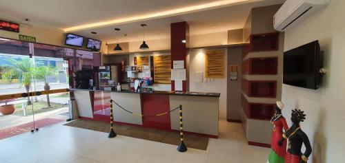 O saguão ou recepção de Hotel Castro