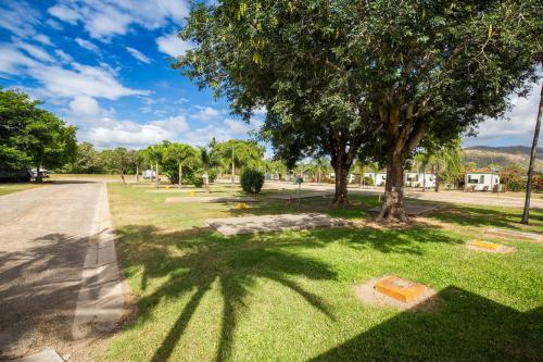 A garden outside Secura Lifestyle Magnetic Gateway Townsville