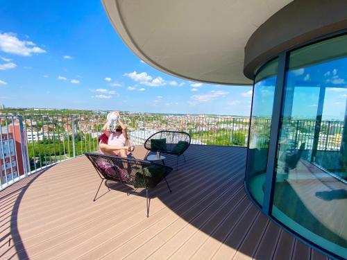 Balcone o terrazza di Wellness Apartments Hamberger