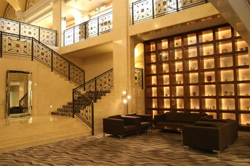 The lobby or reception area at Nishiizu Crystal View Hotel