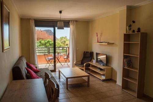 A seating area at Apartamentos Sotavento - Playa La Tejita - El Médano