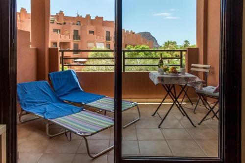 A balcony or terrace at Apartamentos Sotavento - Playa La Tejita - El Médano