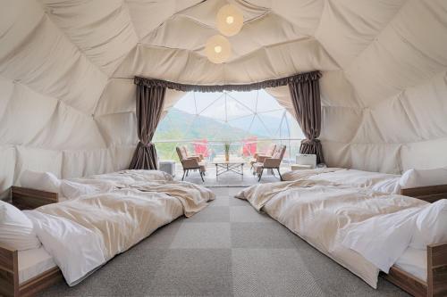 Mt.Shakushi Gateway Campにあるベッド