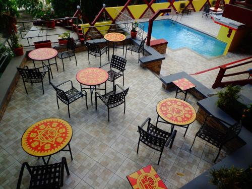 A restaurant or other place to eat at Hotel Maya Vista