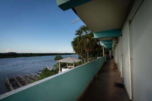 A balcony or terrace at Pousada Pantanal