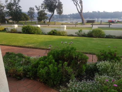 A garden outside Bayview Apartments