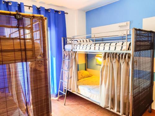 A bunk bed or bunk beds in a room at Sol a Sol Hostel