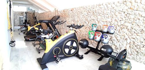 The fitness center and/or fitness facilities at Hotel Parthenon Rodos city