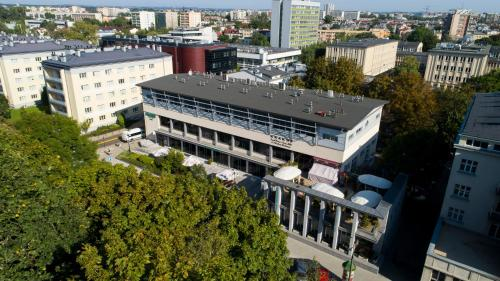 A bird's-eye view of Hotel Polonez